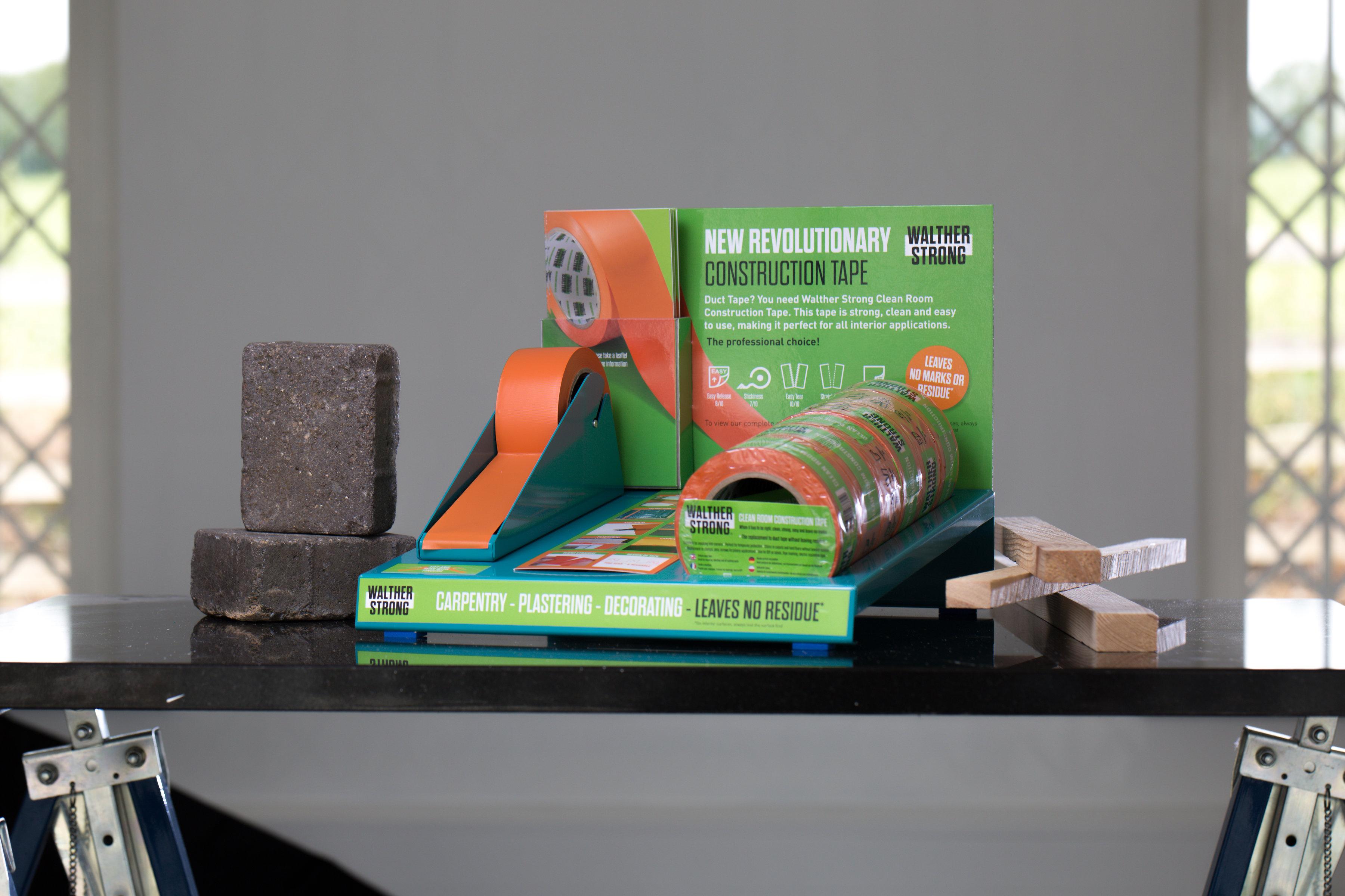 Cleanroom Construction Tape - Easy Tear, Straight Tear, No